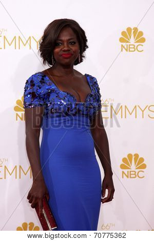 LOS ANGELES - AUG 25:  Viola Davis at the 2014 Primetime Emmy Awards - Arrivals at Nokia Theater at LA Live on August 25, 2014 in Los Angeles, CA