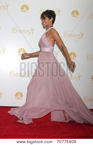 LOS ANGELES - AUG 25:  Halle Berry at the 2014 Primetime Emmy Awards - Press Room at Nokia Theater at LA Live on August 25, 2014 in Los Angeles, CA