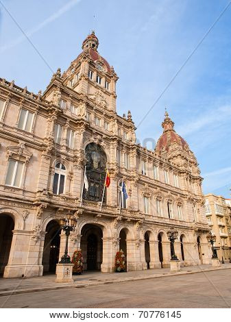City Council Of La Coruna At Day