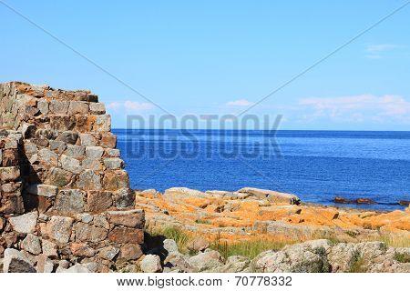 Seascape Christiansoe Island Bornholm Denmark