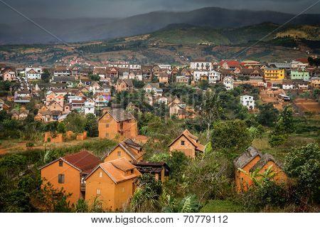 Madagascar town landscape