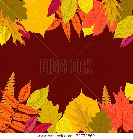 Vector card with autumn decor