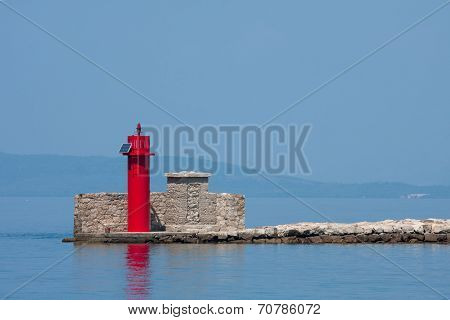 Lighthouse At Port Entrance