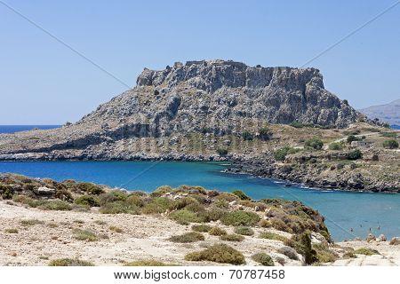 The blue sea at Haraki, Rhodes