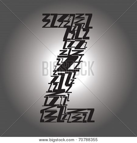 Letter Z . Vector Illustration