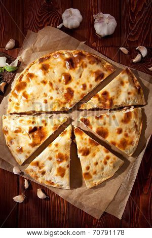 Piece of Pizza Calzone with Chicken