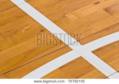 Line On Wooden Floor