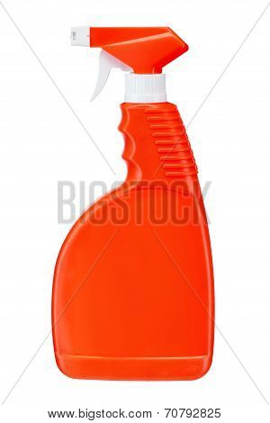 Red plastic dispenser