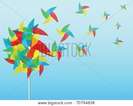 Flowers With Pinwheel