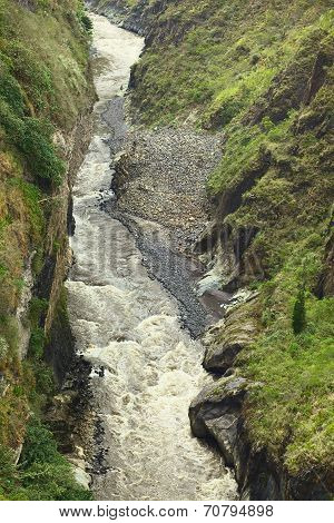 Pastaza River at Banos, Ecuador
