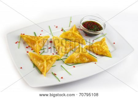 Chinese Dim Sum with soy sause