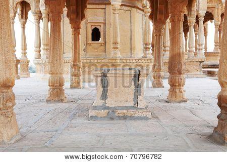 Bada Bagh Cenotaph in Jaisalmer, Rajasthan, India