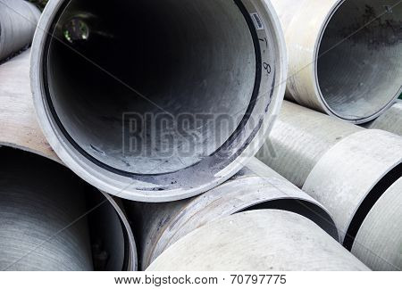 Stack Of New Industrial Pipes