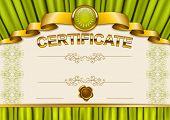 Постер, плакат: Elegant template of certificate diploma