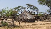 image of mud-hut  - Traditional tsemay houses - JPG
