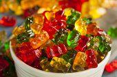image of gummy bear  - Colorful Fruity Gummy Bears Ready to Eat - JPG