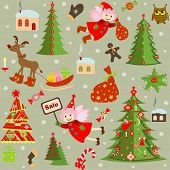 foto of winterberry  - Xmas retro wallpaper - JPG
