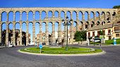 image of aqueduct  - The Roman Aqueduct of Segovia - JPG