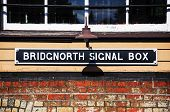 foto of nameplates  - Signal box nameplate Severn Valley Railway Bridgnorth Shoprshire England UK Western Europe - JPG