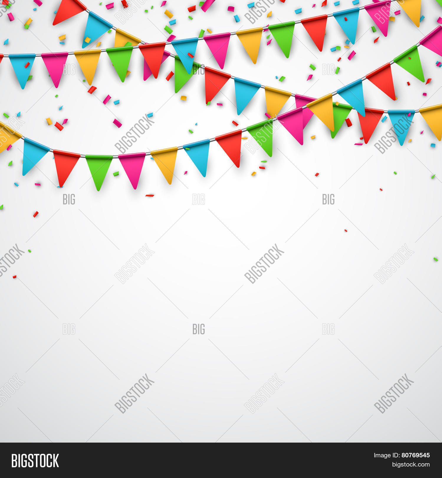 celebration background image celebrate background party flags with confetti vector 5838