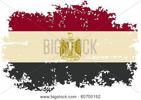 Egyptian grunge flag. Vector illustration.