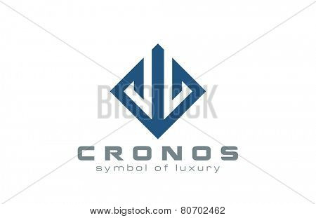 Rhombus square Abstract Logo design vector template Luxury style. Logotype for Fashion, Jewelry, Real Estate, Construction etc.