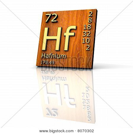 Hafnium Form Periodic Table Of Elements - Wood Board