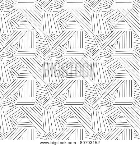 Abstract vector pattern made with sketchy, thin and random lines.
