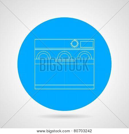 Dishwasher machine flat line vector icon