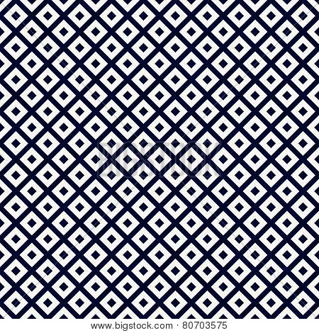 Navy Blue And White Diagonal Squares Tiles Pattern Repeat Background