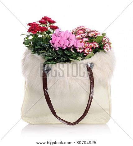 bag with flowers