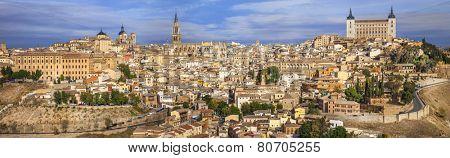 medieval Toledo, panoramic image, Spain