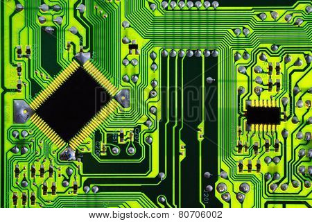 Green computer electric circuit board