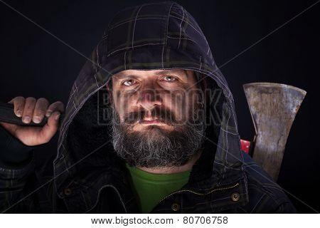 Tough Guy With Axe
