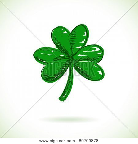 Clover leaf Vector illustration Hand drawn
