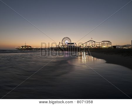 Santa Monica Beach Night