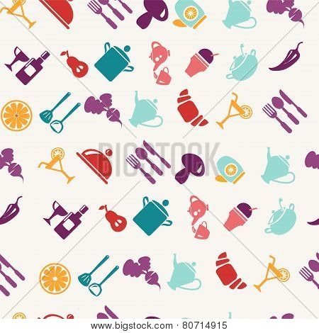 Oods And Tableware Items Pattern