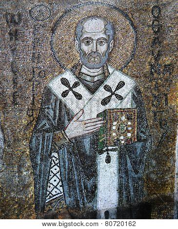 ancient frescoe in Saint Sophia Cathedral, Kiev, Ukraine