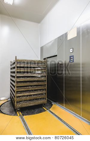 Distillation Camera And Trolley On Pharmaceutical Industry