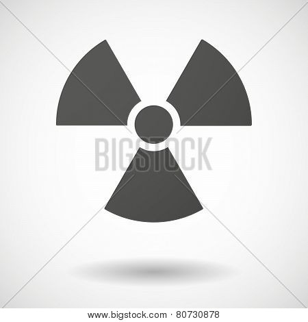 Radioactivity Icon On White Background