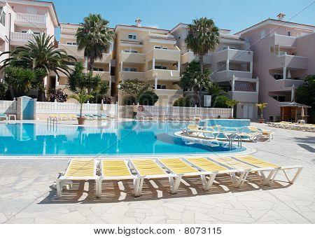 Beach Chairs Near The Pool