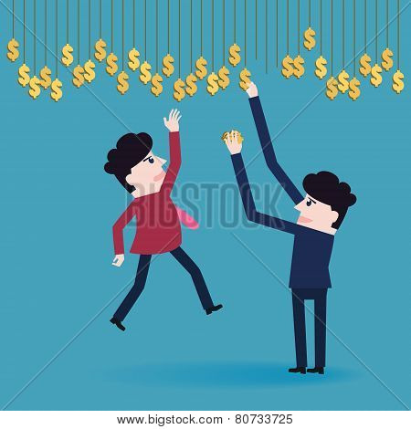 Businessman Collect Money