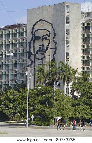 Iconic Ministry of Interior Defense Building, Havana, Cuba.