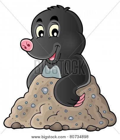 Happy mole theme image 1 - eps10 vector illustration.
