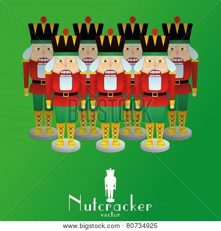 a set of nutcracker soldiers