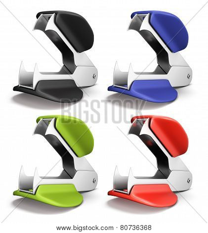Set Of Staple Remover Different Colors
