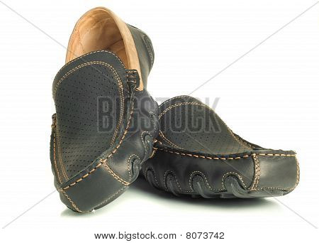 Modern Footwear Black Mens Shoes Moccasins