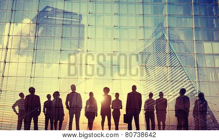 Business People Inspiration Goals Mission Growth Success Concept