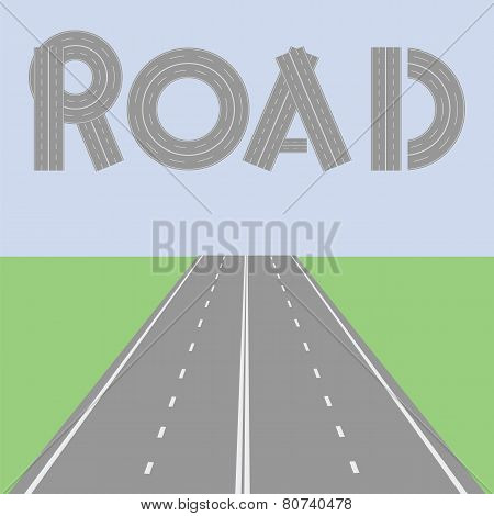 Road Sign above highway