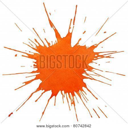 Blot Of Orange Paint
